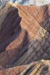 zhangye, danxia, landform, geological park, china, painted mountains, rock, stone, abstract, patterns, multi colour, multi color, stone, blanketed, draped
