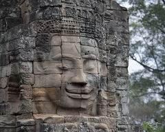 angkor wat, cambodia, temple, bayon, harmony, Chilling, Avalokiteshvara, carving, stone, sculpture, ancient, buddha, buddhism, buddhist, smiling buddha, at peace, peace, tranquility, solace, contempla