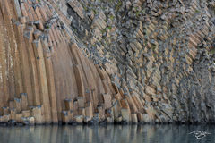 basalt, columns, rock, multicoloured, multicolored, extrusion, extruded, volcanic, geology