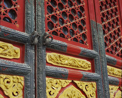 forbidden city, forbidden doors, ornate carving, ornate doors, ornate, door, doors, doorway, dragon engraving, asian architecture, red, gold, colourful, beijing, peking, ancient doors