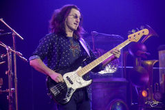 rush, geddy lee, in concert, performing, rock concert, clockwork angels tour, 2012, soloing, fender, bass guitar