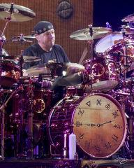 rush, neil peart, drumming, drummer, baterista, professor, pratt, in concert, performing, rock concert, clockwork angels tour, 2012