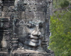 angkor wat, cambodia, temple, bayon, harmony, harmonious, Avalokiteshvara, carving, stone, sculpture, ancient, buddha, buddhism, buddhist, smiling buddha, at peace, peace, tranquility, solace, contemp