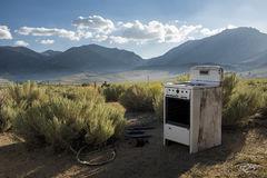 abandoned, range, stove, oven, rust, home on the range, appliance, derelict, broken