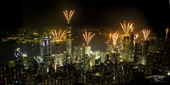 Victoria Peak, Hong Kong, Kowloon, Cityscape, Fireworks, China, Kowloon, Harbour, Bank of China, Aberdeen, Great Cities, Chinese, City, Skyline, Central, SAR