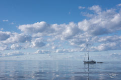 lake superior, lake huron, lake michigan, great lakes, sailing, sailboat, boat, ship, yacht, vessel, schooner, clouds, sea, ocean, reflection, in tow, clipper