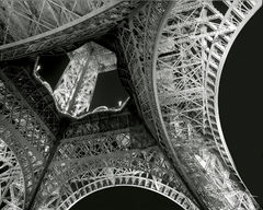 eiffel tower, la tour eiffel, black and white, intricate detail, architectural masterpiece, iron tower, night, lights, incredible architecture, paris landmark, intricate, intricacy, monochrome