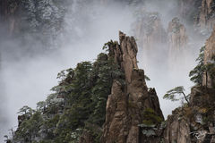 huangshan, china, yellow mountains, floating mountains, clouds, inversion, fog, spires, towers, avatar, pandora, mystical, fantasyland, magical