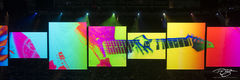 roger waters, pink floyd, in concert, performing, us + them, us and them, dave kilminster, guitar, rose, abstract, panorama
