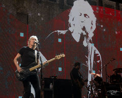 roger waters, pink floyd, in concert, performing, us + them, us and them, bass guitar, dark side of the moon, the wall
