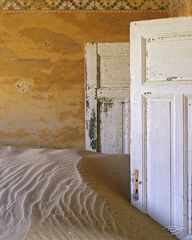 namibia, sands of time, namib desert, desert, sand, doors, door, doorway, dunes, ghost town, kolmanskop, kolmanskuppe, luderitz, abandoned, town, diamond mining, flooded, homes, home, peeling paint