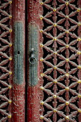 forbidden city, ornate carving, ornate doors, ornate, door, doors, doorway, dragon engraving, asian architecture, red, gold, colourful, beijing, peking, ancient doors