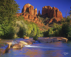 Arizona, Sedona, red rocks, red rock crossing, cathedral rock, red rocks state park, oak creek, canyon, northern arizona, oak creek canyon, autumn color, autumn colour, fall colour, reflection