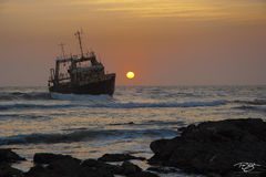 despair, red sky at night, shipwreck, nautical wreckage, sunset, red skies, helpless, treacherous seas, run aground, listing, salvage, skeleton coast, namibia, benguela current, desolate, nautical