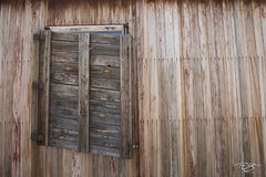 danmark island, shutters, window, shack, cabin, hunting, abandoned, worn, weathered, derelict, sagging, old, wood, wooden