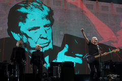 roger waters, pink floyd, in concert, performing, us + them, us and them, acoustic guitar, dark side of the moon, the wall, Holly Laessig, Jess Wolfe, trump, donald trump