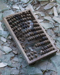 chernobyl, chornobyl, pripyat, exclusion zone, abandoned, forgotten, wasteland, radioactive, decay, broken glass, abacus, calculator