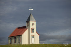 iceland, church, chapel, cathedral, chapel on the hill, golden hour, warm, salvation, country, beacon, cross