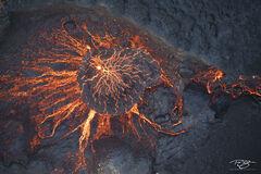 Rare look into the caldera of an active volcano