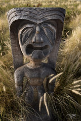 hawaii, tiki, god, statue, carving, crying, whining, despondent, sad