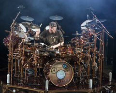 rush, neil peart, drumming, drummer, baterista, professor, pratt, in concert, performing, rock concert, time machine tour, 2010