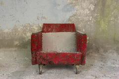 chernobyl, chornobyl, pripyat, exclusion zone, abandoned, forgotten, wasteland, radioactive, decay, peeling paint, red chair, upholstered, chair, old chair, worn, dirty, weathered, debris, chair
