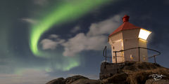 lofoten, northern lights, panorama, aurora, borealis, aurora borealis, aurora australis, lighthouse, light, night, sky, swirling light, green, solar flare, mass coronal ejection, unstad, eggum, beach