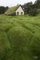 iceland, church, chapel, cathedral, place of worship, turf building, turf house, turf church, hofskirkja, hobbit house