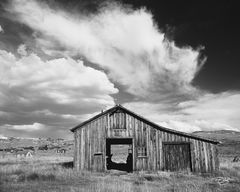Bodie, California, old barn, storm clouds, derelict, building, carriage house, restoration, ghost town, derelict building, dramatic sky, storm clouds, tornado