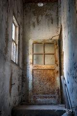 door, stairway, peeling, stairwell, staircase, stairs, paint, emerge, doorway, church, abandoned, forgotten, decay, ruin