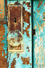 door, doorway, old door, old doorknob, rusty doorknob, flaking paint, rusty door, rusted door, opportunity, antique door lock, life changing decisions, passageway, antique door, weathered paint, weath