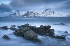 rocks, norway, long exposure, sea, coastline, coast, beach, arctic, lofoten, boulders, norwegian sea, calm, peace, tranquility, resilience, strength, hustinden