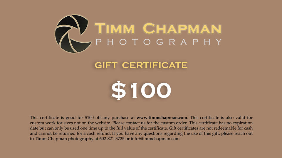 Gift Certificates are now available online