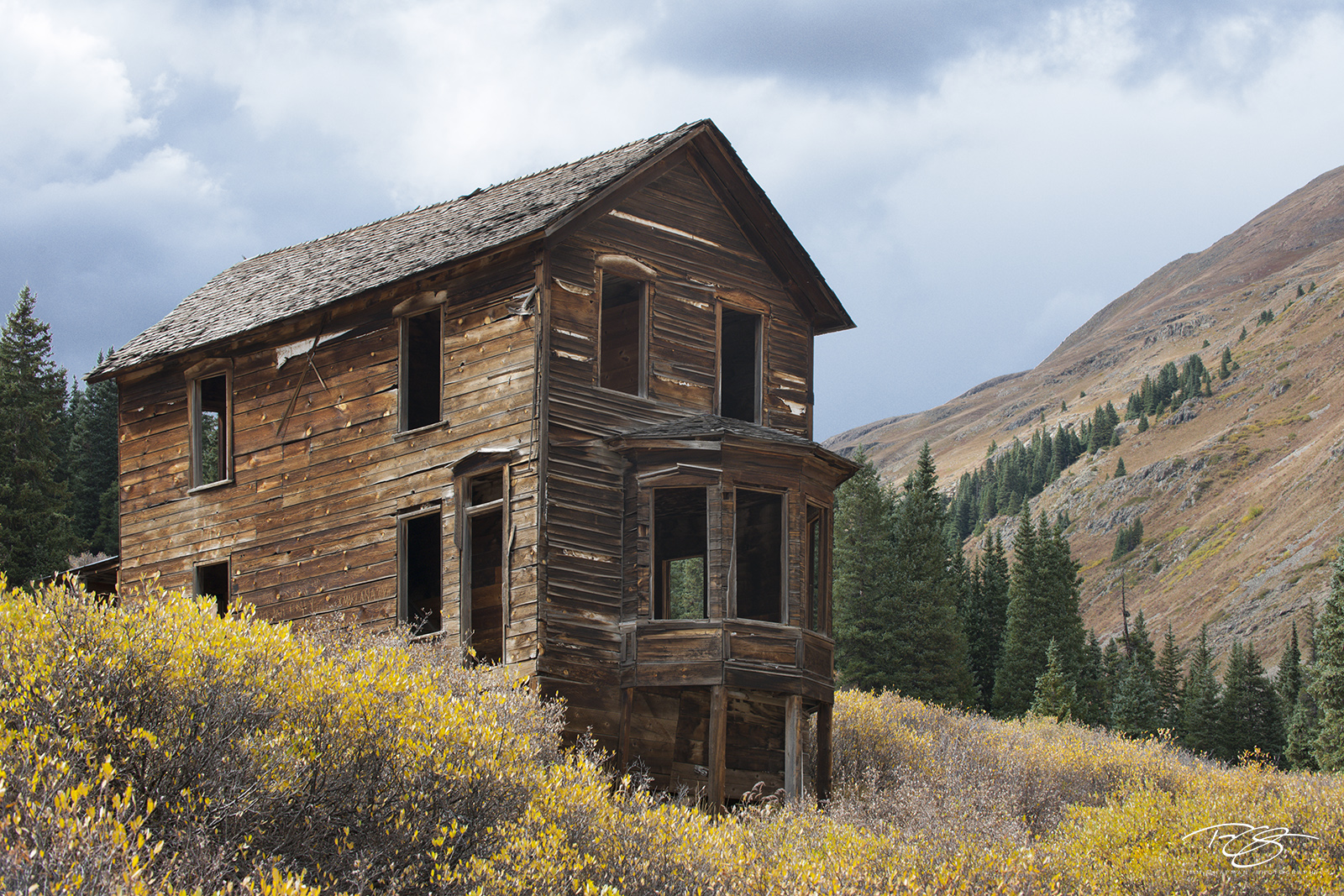 Colorado, autumn, animas forks, abandoned, wood house, home, barn, derelict, forgotten, alone, sagebrush, photo
