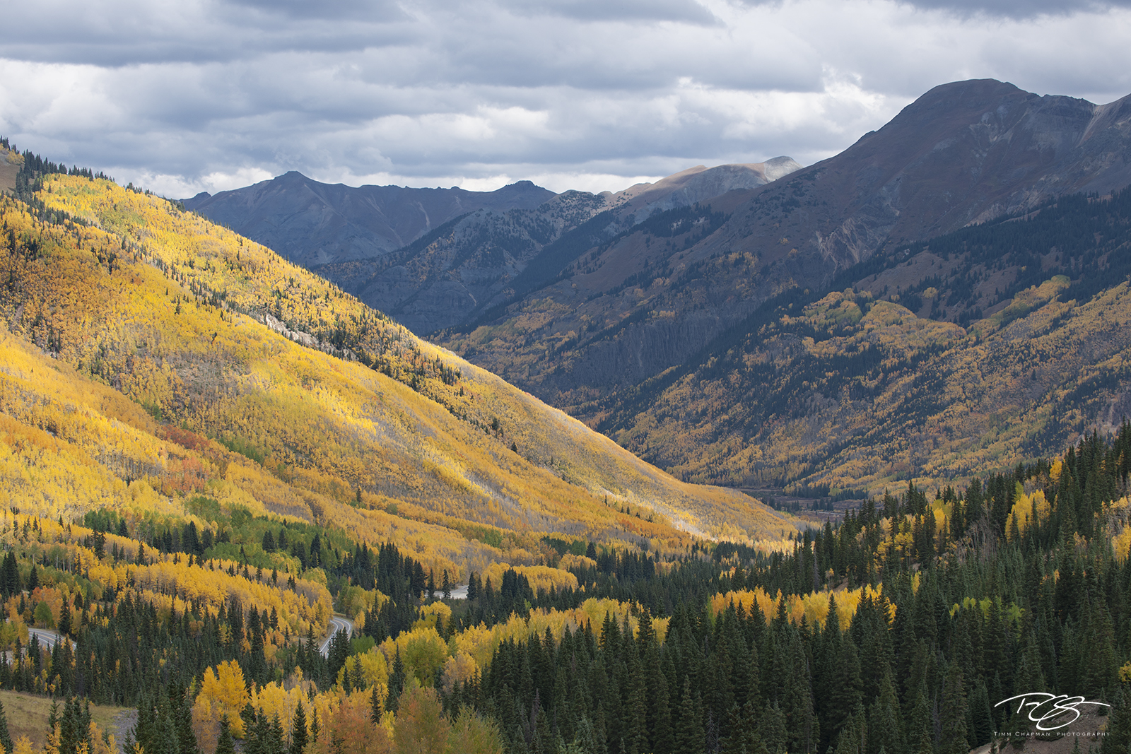 The hillsides erupt with colour in the San Juan Mountains of Colorado