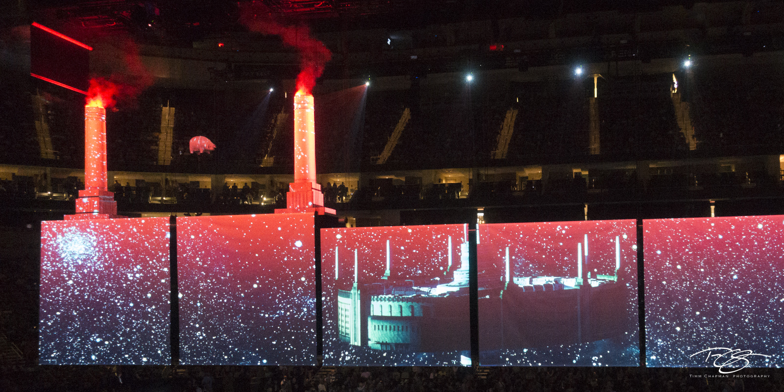 roger waters, pink floyd, in concert, performing, us + them, us and them, battersea power station, is this the life we really want, pittsburgh, projection, photo