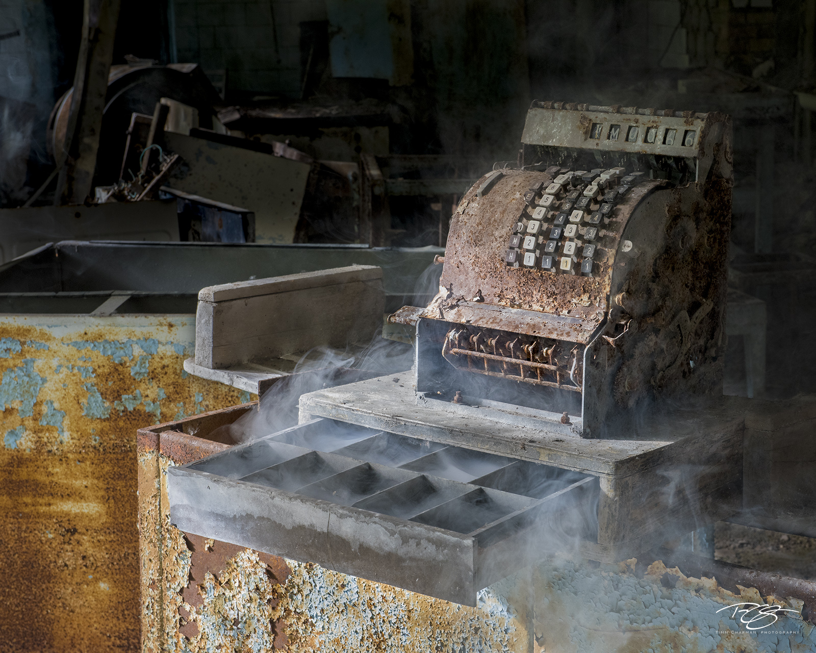 chernobyl, chornobyl, pripyat, exclusion zone, abandoned, forgotten, wasteland, radioactive, decay, peeling paint, office, factory, school, cash register, smoke, burning, cash, smolder, rust, money, c, photo