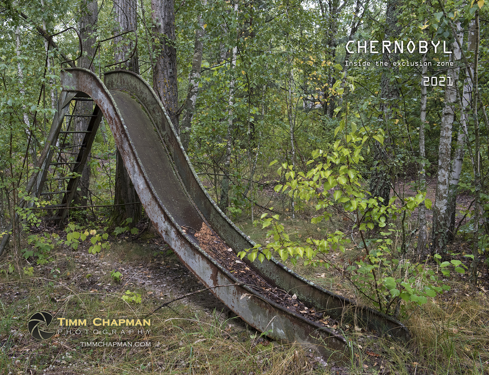 A collection of images of from the ill-fated area around Chernobyl presented in a 12 month calendar for 2021