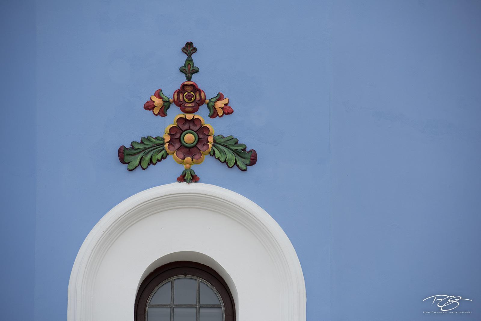 kiev, ukraine, window, arch, flowers, blue, kyiv, St. Michael's Golden-Domed Monastery, Mykhaylivs'kyi zolotoverkhyi monastyr, monastery, Podil, church, cathedral, photo