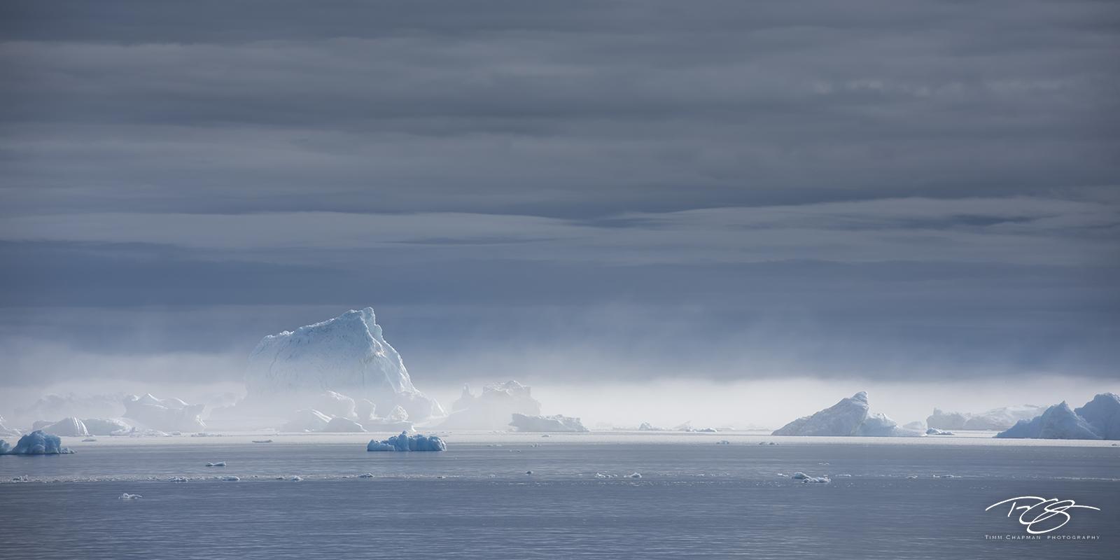 ice; iceberg; fog; foggy; mist; dreamy; disko bay, photo