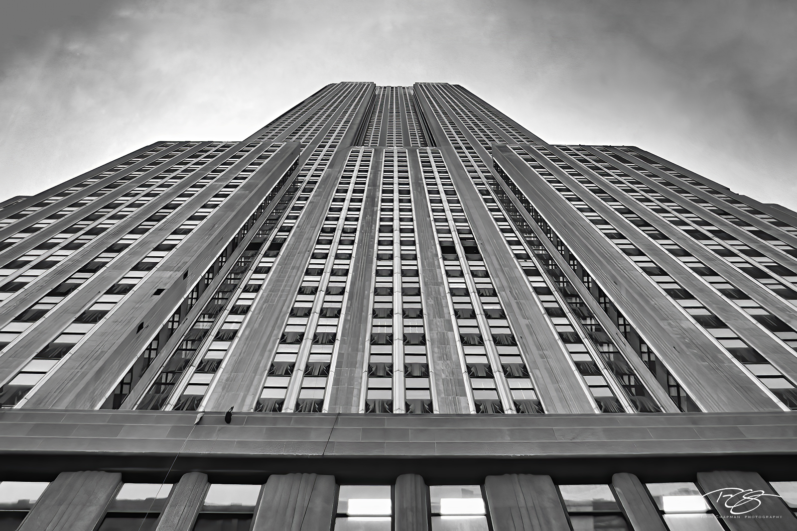 new york, new york city, empire state building, black and white, monochrome, abstract; gotham, photo