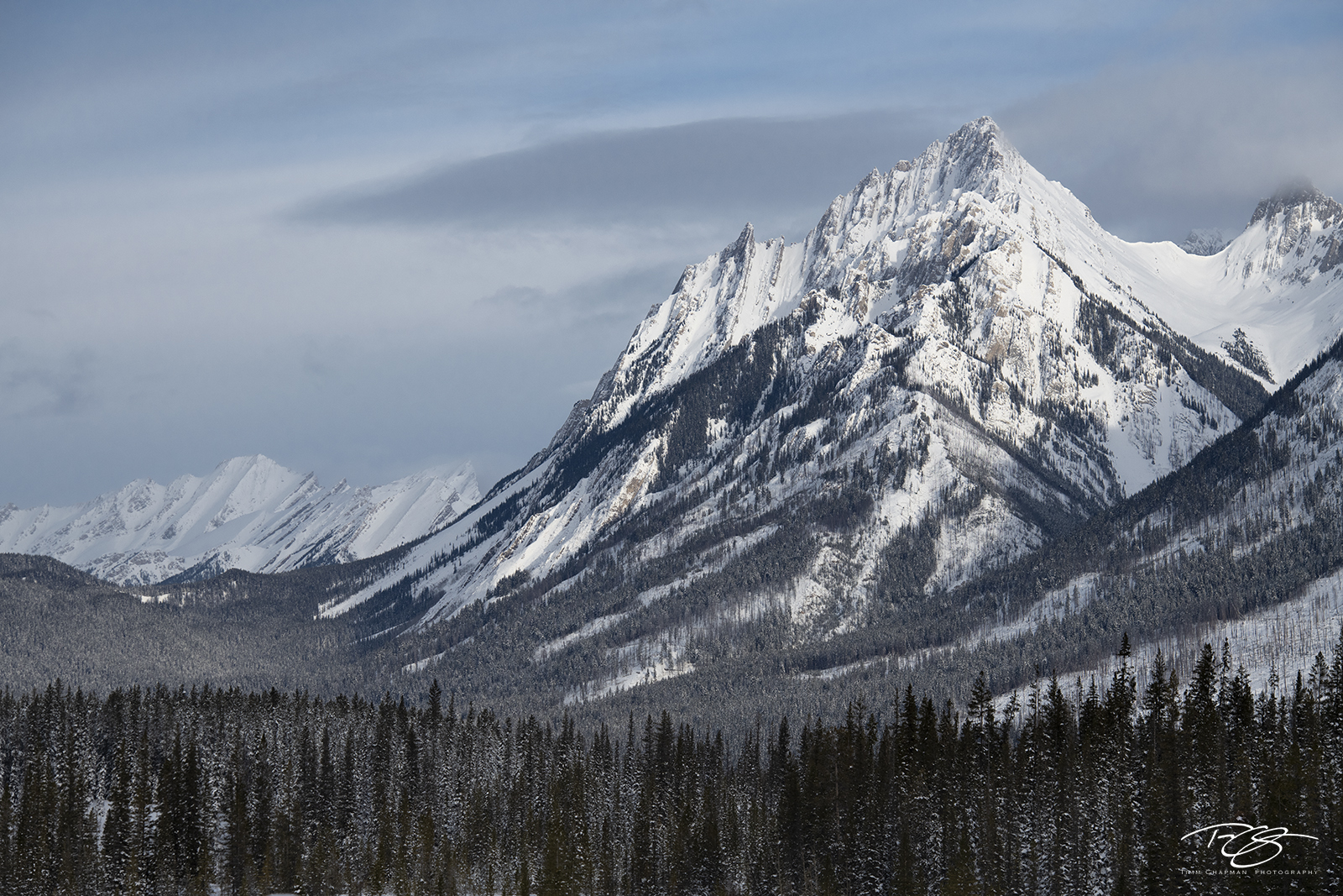 The majestic Canadian Rockies dressed in snow