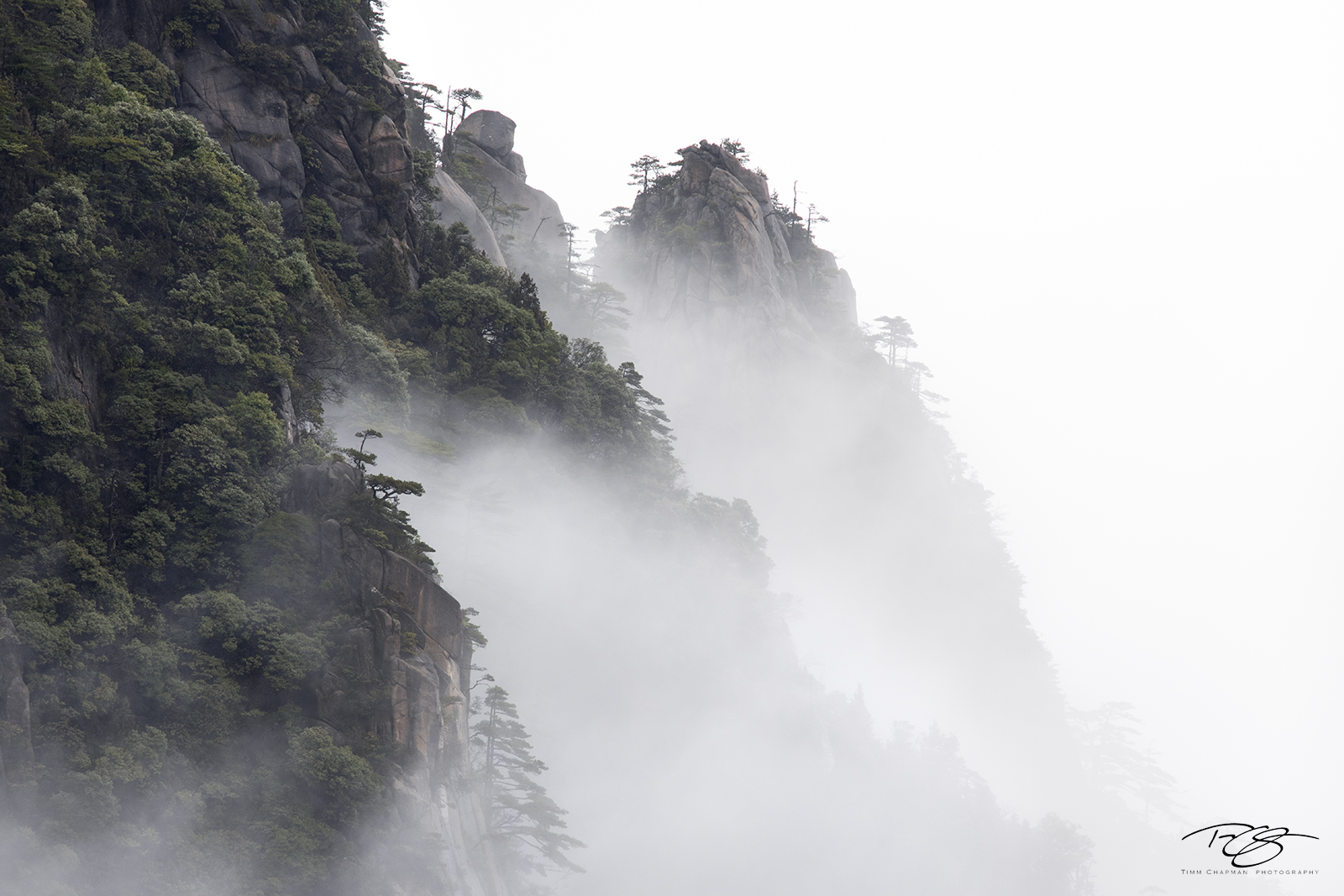 huangshan, china, yellow mountains, gfloating mountains, clouds, inversion, fog, spires, towers