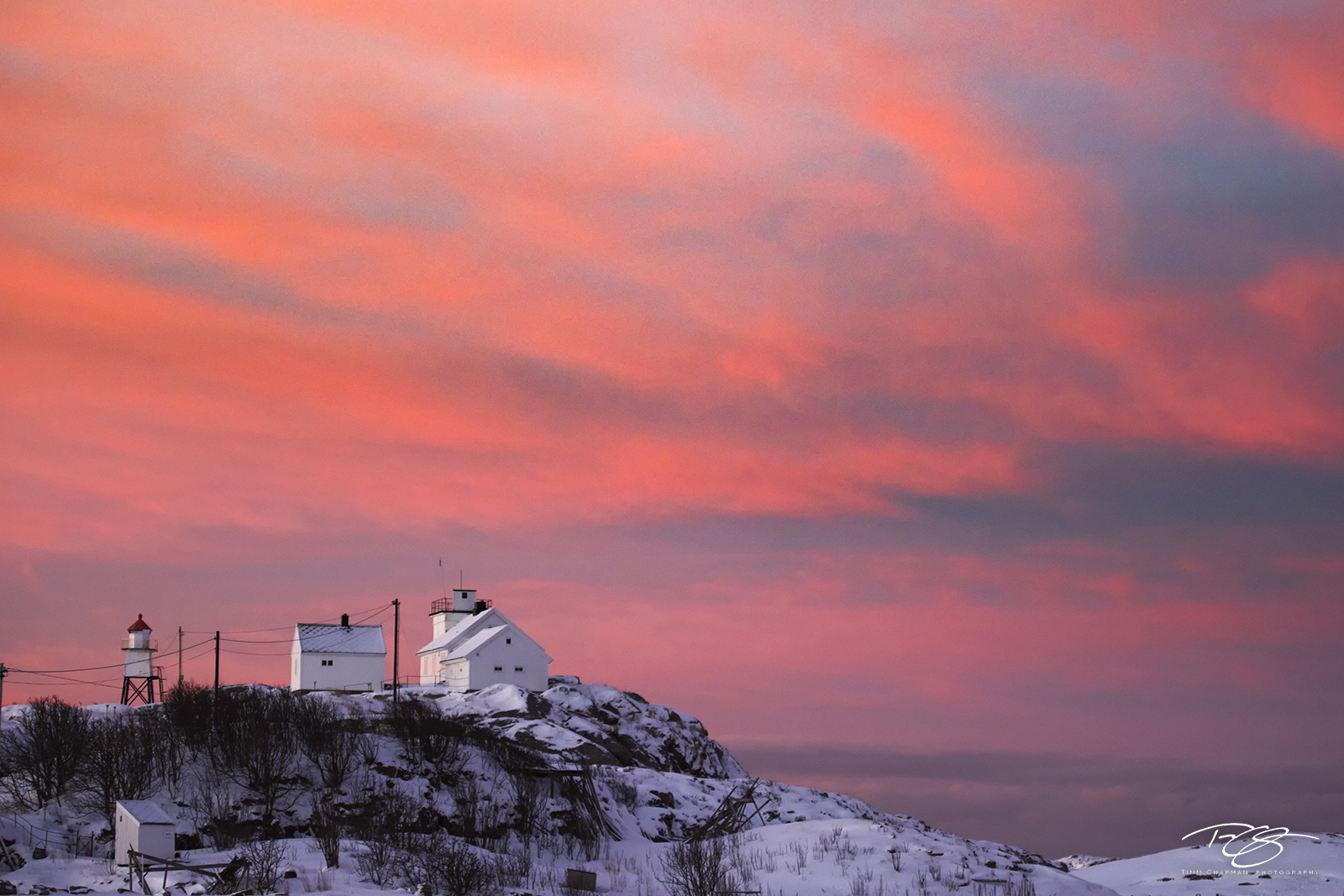norway, gallery, lofoten, Henningsvær, snowy, fresh snow, henningsvaer, winter, sunrise, predawn, fiery sky, clouds, dawn, lighthouse, Austvågøy, Austvågøya, light, lighthouse