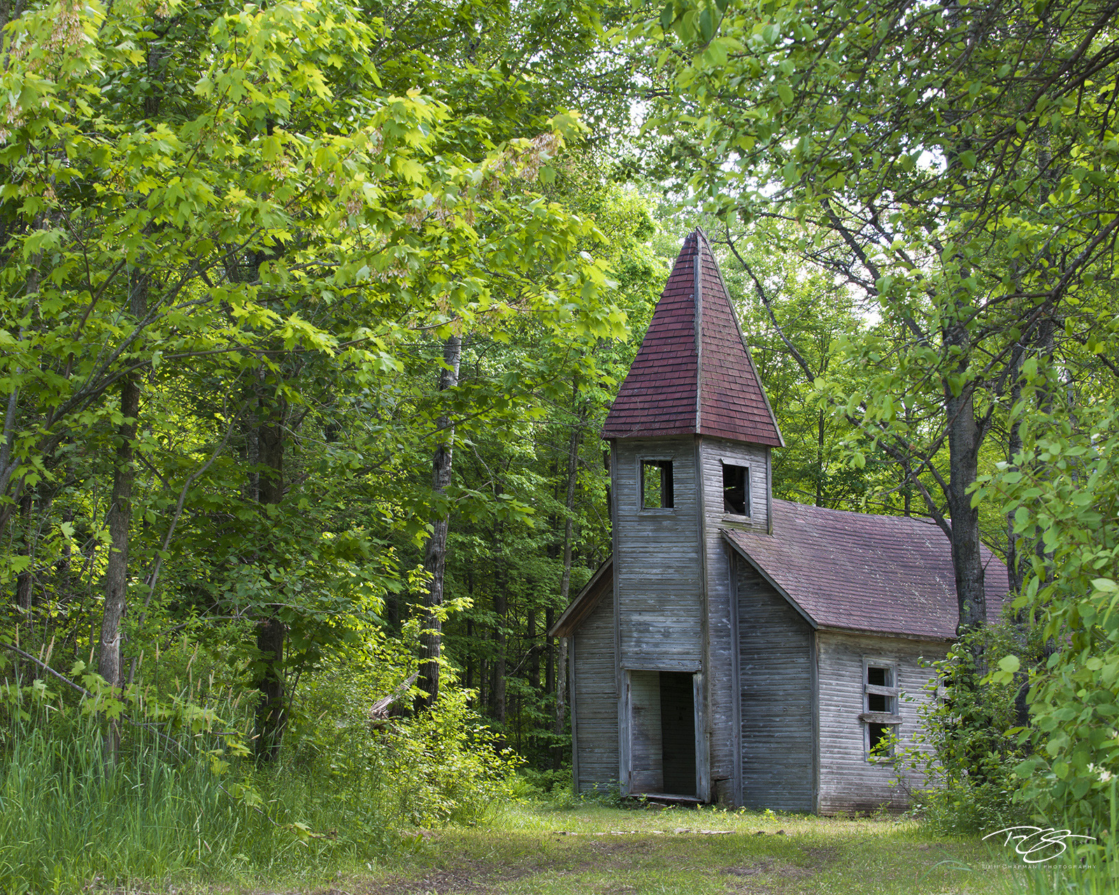 derelict, abandoned, church, chapel, cathedral, chapel in the woods, church in the woods, forest, estonian, first estonian church, wisconsin, Estonian Evangelical Martin Luther Church, photo