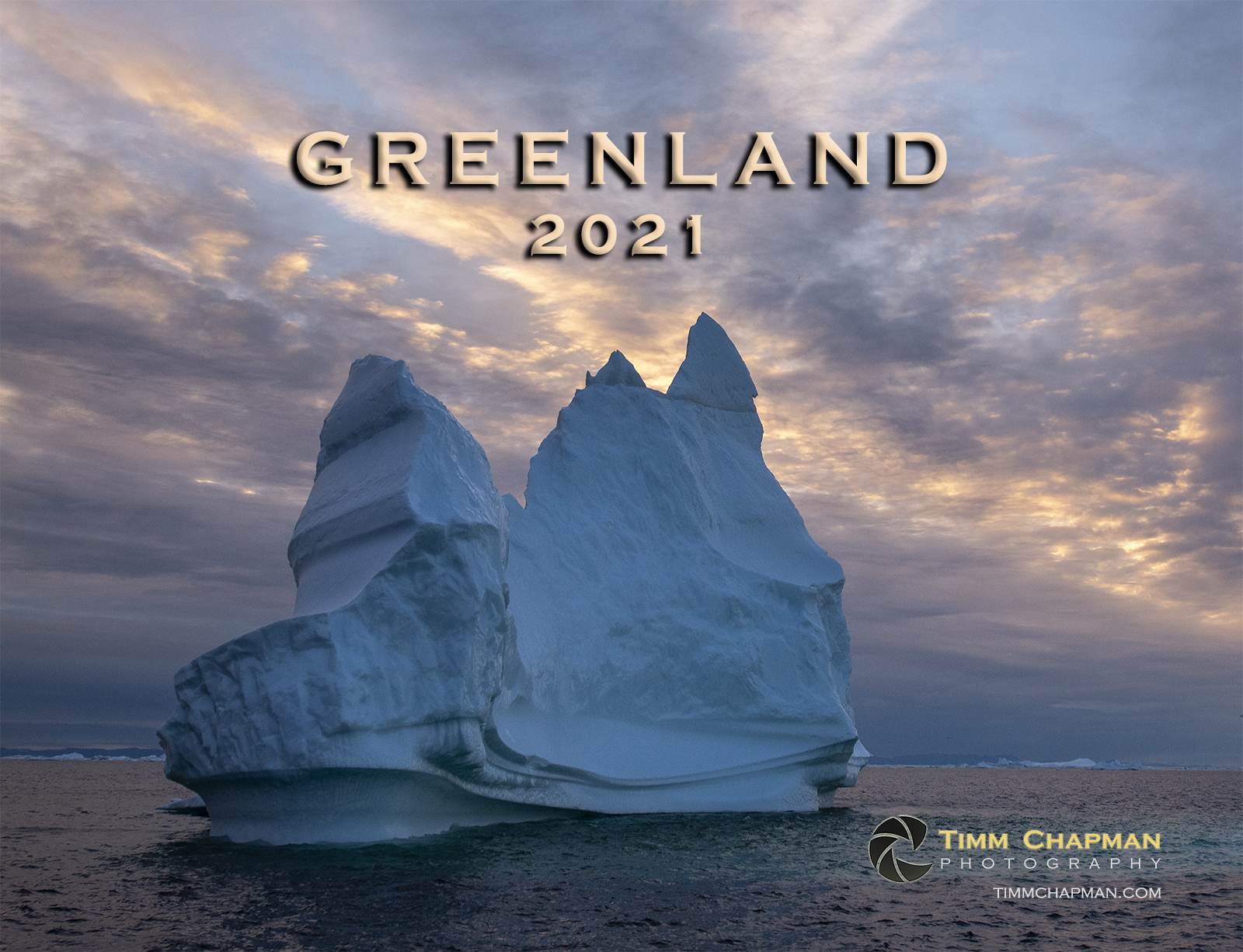 A collection of images from majestic Greenland presented in a 12 month calendar for 2021