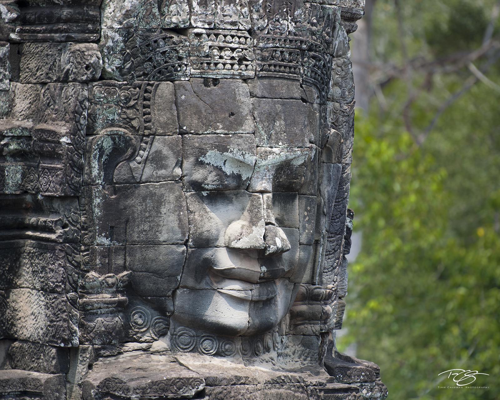 angkor wat, cambodia, temple, bayon, harmony, harmonious, Avalokiteshvara, carving, stone, sculpture, ancient, buddha, buddhism, buddhist, smiling buddha, at peace, peace, tranquility, solace, contemp, photo