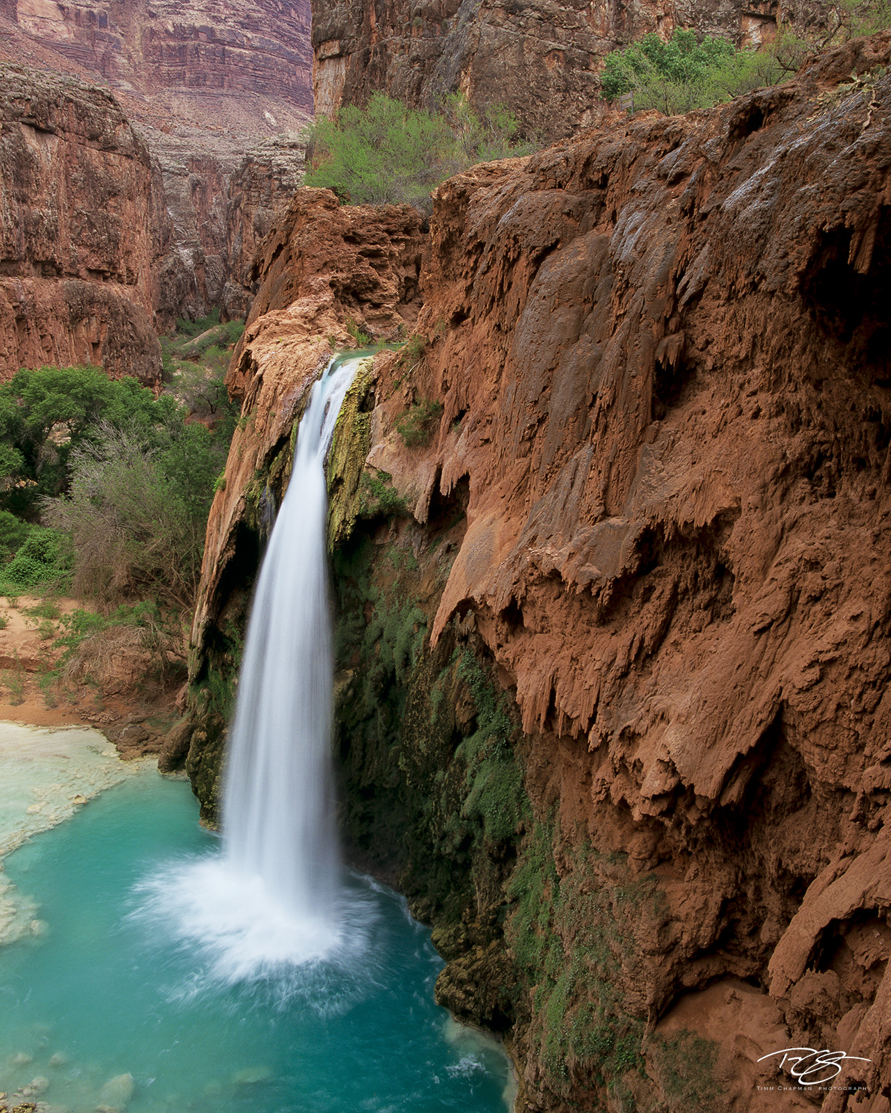 Arizona, Grand Canyon, Havasu Creek, Havasu Falls, canyon, northern arizona, waterfalls, havasupai, supai, people of the blue green water, canyon oasis, waterfall, hualapai hilltop, indian reservation, photo