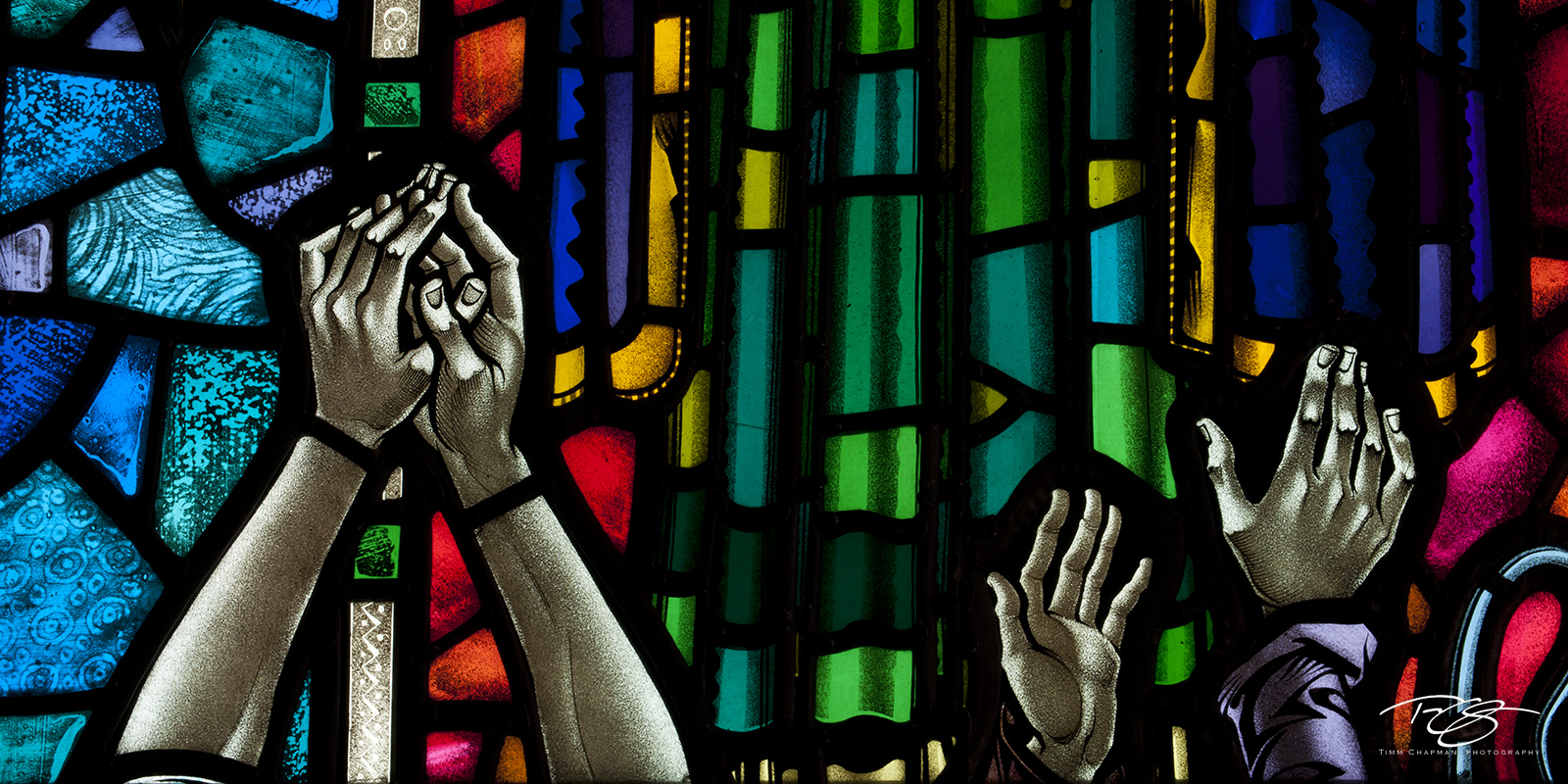 Iceland, Hallgrímskirkja, stained glass, healing hands, colorful, praying hands, helping hands, faith, help, sanctuary, support, panorama