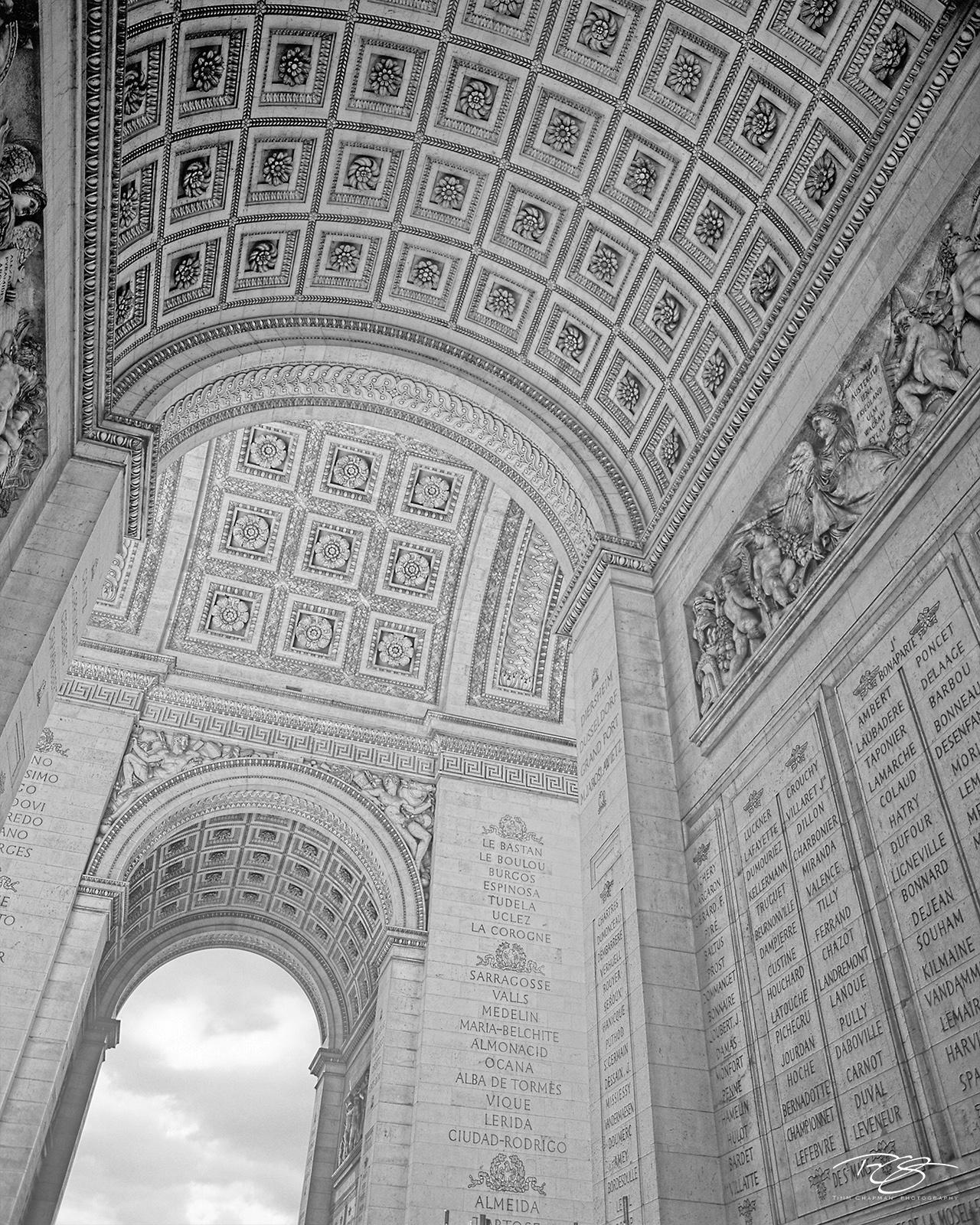 arc de triomphe, arch of triumph, paris, france, napoleon, monument, war heroes, napoleonic wars, imperial armies, generals, architecture, paris landmark, memorial, photo
